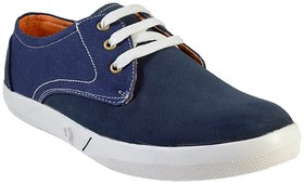 MarcoUno Men's Blue Lace-up Casual Shoes