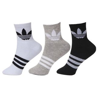 514dbb03a0a Buy Adidas Unisex Cotton Ankle Length Socks - 3 Pairs Online - Get 70% Off