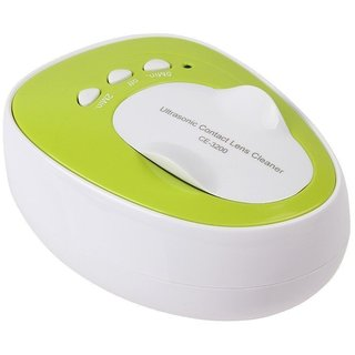 Skin Companion CE-3200 New Mini Ultrasonic Contact Lens Cleaner Kit Daily Care Fast Cleaning(Green)