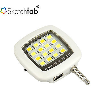 Mini 16 LED Selfie Flash Light By Sketchfab  Multi Color