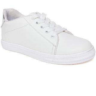 Vendoz Women White Sneakers
