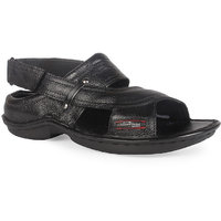 K2 Leather Black Leather Men's Sandals (RC-01-BK)