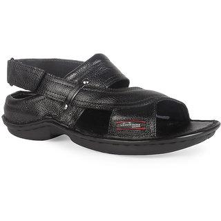 K2 Leather Black Leather Men's Sandals (RC-01-BK)