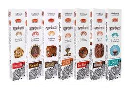 Veeana Combo of 7 Premium Insence Stick Rose Gold,Nawab,Gold Sandal,Gugal,Rose Wood,Woody Loban 50gm