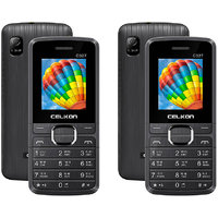 Celkon C327 Dual Sim 1.3MP Camera Combo Of 2 Mobiles(Bu