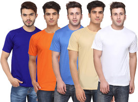 Pack of 5 Ketex Men Multicolor Round Neck T-Shirt