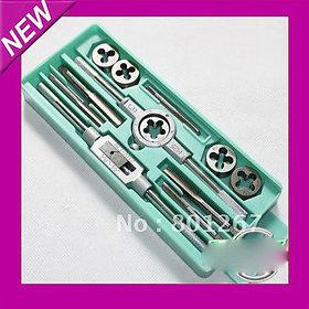 12pcs Taper Tap Drill Bit Screw Die Thread Tool Set Tap  Die Set
