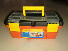 10 MINI SMALL PLASTIC TOOL BOX WITH REMOVABLE TRAY CARRYING HANDLE