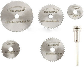6pc HSS Circular Saw Disc Blades For Metal For Dremel Rotary Cutter