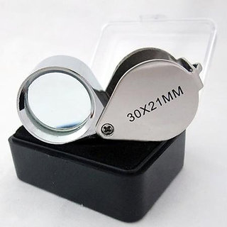 30 x 21mm Jeweler Loupe Glass Lens Magnifier Magnifying
