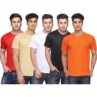 Pack of 5 Ketex Multicolor Round Neck T-Shirts For Men