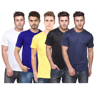 Pack of 5 Ketex Multicolor Round Neck T-Shirt For Men