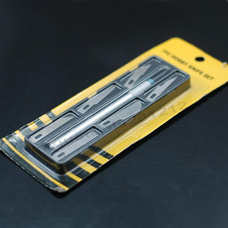 HOBBY KNIFE 7 PCS PRECISION STENCIL SCRIBING RAZOR Crafts Scrapbooking Model SET