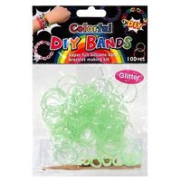 Diy Do It Yourself Colorful Bracelet Bands 100 Green Gl
