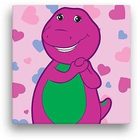 "PBS KIDS Barney Hearts 12 X 12"" Canvas Wall Art"