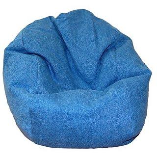 Ahh! Products Denim Blue Bean Bag Chair For Dolls