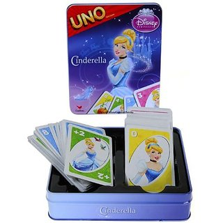 Cinderella Disney Princess UNO Card Game in Colorful Collectors Tin