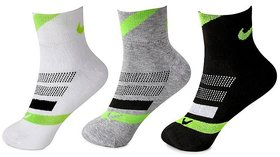 Nike Unisex Cotton Ankle Length Socks - 3 Pairs
