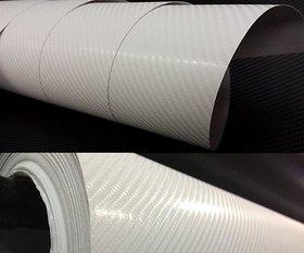 12x24 3D White Carbon Fiber Vinyl Car Wrap Sheet Roll Film Sticker Decal