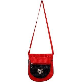 GRV Fashion Red Black Sling Bag