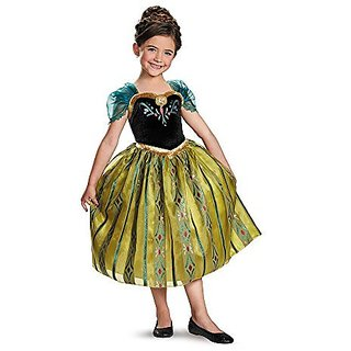 Disguise Disneys Frozen Anna Coronation Gown Deluxe Girls Costume, Small/4-6x