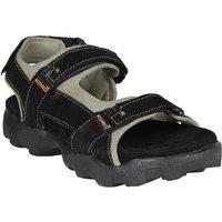 Koxko Men's Black  Leather Casual Sandal 6 UK