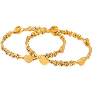 Chrishan Gold Plated Ginni Bangle Set For Women