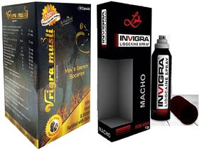 Vrinda Energy Booster Capsules For Men   Power Booster With Spray (Combo Pack)