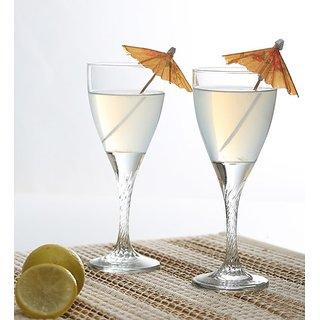 Pasabahce Wine Twisted Glass 180 ML Set of 6