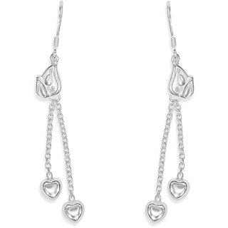 Taraash Sterling Silver Leafly Design French Hook Jhumki Earrings For Women CBER303I-02