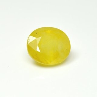 Ratna Gemstone Yellow sapphire (Pukhraj)  5.50 Ratti Certified Natural Rashi Ratan Gemstone