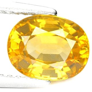 Ratna Gemstone Yellow sapphire (Pukhraj)  5.50 Ratti Certified Natural Rashi Ratan Gemstone