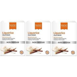 VLCC Liquorice Cold Cream 50 grams pack of 3