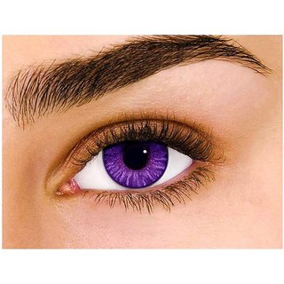 i-look Violet Colour Monthly(Zero Power) Contact Lens