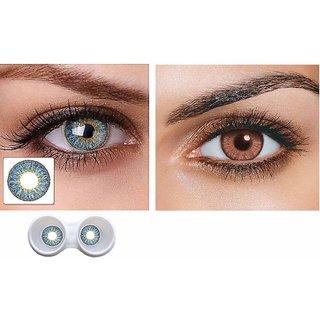 i-look Aqua & Honey Colour Monthly(Zero Power) Contact Lens