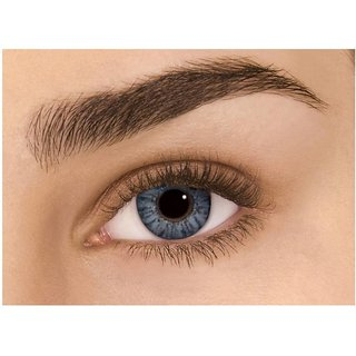 Diamond Eye Colour Contact Lens(Grey, 0.0 Power)