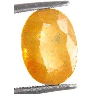 Ratna Gemstone Yellow sapphire (Pukhraj)  6.50 Ratti Certified Natural Rashi Ratan Gemstone
