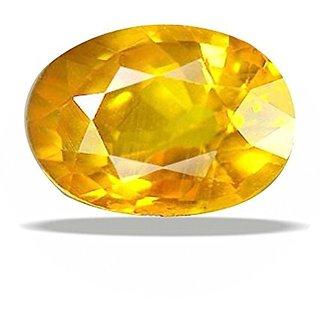 Ratna Gemstone Yellow sapphire (Pukhraj) 7.50 Ratti Certified Natural Rashi Ratan Gemstone