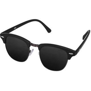 d3ee934b4d Buy Silver Kartz Gun-Metal Clubmaster Wayfarer Sunglasses (Black ...