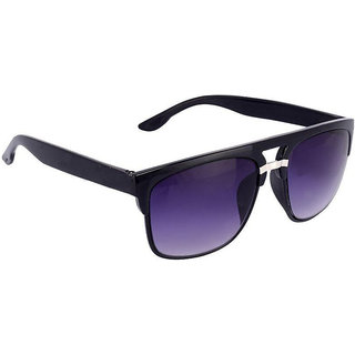 Silver Kartz Sunset Violet Wayfarer, Rectangular Sunglasses (Violet, Black)