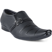 Shoes Bucket Black Slip On Formal Shoes For Men's SB375