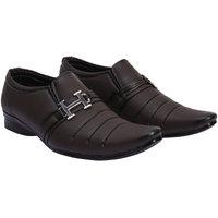 Shoes Bucket Brown Slip On Formal Shoes For Men's SB374