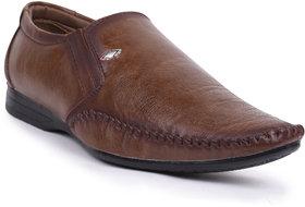 Shoes Bucket Brown Slip On Formal Shoes For Men's SB317
