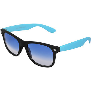 Silver Kartz Beach Sky Blue Wayfarer, Rectangular Sunglasses (Blue)