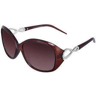 664aa87960 Buy Silver Kartz Brown Oval-Snake Wayfarer Sunglasses (For Girls) Online -  Get 66% Off