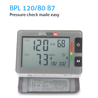 BPL FULLY AUTOMATIC WRIST TYPE BLOOD PRESSURE MONITOR MODEL 120/80 B7 WITH 1 YEAR BRAND REPLACEMENT GUARANTEE