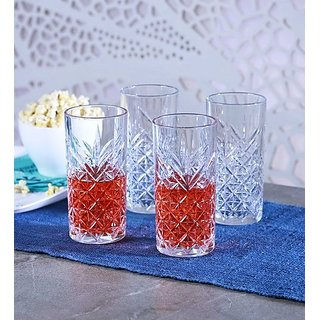 Pasabahce Timeless Glass 450 ML Long Drink Tumblers - Set of 4