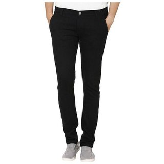 Urbano Fashion Men's Black Slim Fit Stretchable Jeans