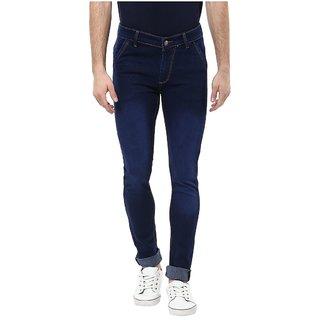 Urbano Fashion Men's Blue Slim Fit Stretchable Jeans