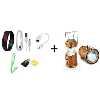 Buy Emergency Solar Light With Set Of 5 Accessories Online